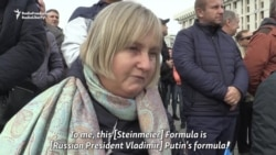 Ukrainian Protesters Decry Donbas Election Plan