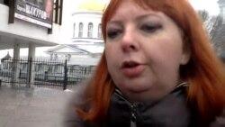 Представитель Яблока Татьяна Шкред делает заявление