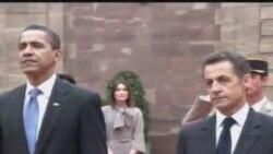 Обама менен Саркози Страсбургда
