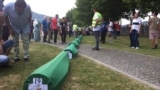 Bosnia and Herzegovina -- The remains of the 19 Srebrenica genocide victims are laid down in the Memorial center Srebrenica - Potocari, ahead of the 26th commemoration of the Srebrenica genocida that will be held on July 11th, July 10 2021.
