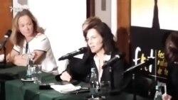 """Juliette Binoche la conferința de presă pe marginea filmului """"Polina"""""""