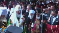 Патріарх Московський очолив молебень у Києві