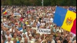 На митинг против властей в Кишиневе вышли более 100 тысяч человек