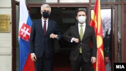 Министрите за надворешни работи на Словачка и на Македонија, Иван Корчок и Бујар Османи