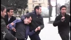 Aksiyaya cəhd edən gənclər saxlanıldı