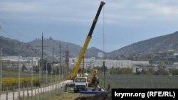 В Балаклаве подразделения главного военно-строительного управления №4 российского Министерства обороны прокладывают трубы