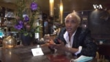 Amy Bello, restaurant manager, France Paris, VOA Video Grab