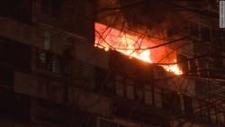 Взрыв и пожар в жилом доме в Москве