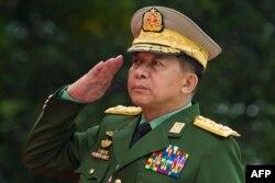 Старший генерал Мин Аун Хлайн. 2018 год
