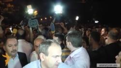 Ереван. Продолжение акции протеста