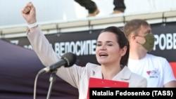 Беларусь президенттігіне үміткер Светлана Тихановская.