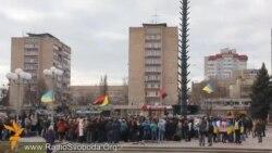 У Черкасах на молодіжний мітинг зібралися близько півтисячі учнів та студентів