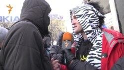 Детей на марше защитили учащиеся