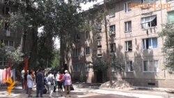 Протест жителей общежития