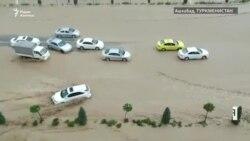 Ашхабадцы остались один на один с последствиями наводнения