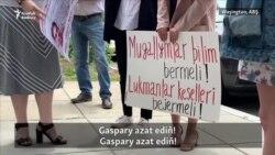 Türkmenistanyň ABŞ-daky ilçihanasynyň öňünde aktiwist Matalaýewiň azat edilmegine çagyryş edildi