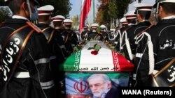 Мохсен Фахризаденин зыйнаты. Тегеран, 30-ноябрь, 2020-жыл.