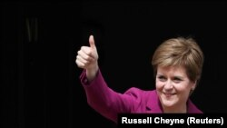 Premierul scoțian, Nicola Sturgeon, Edinburgh, 9 mai 2021.