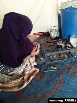 В палатке Амины в лагере «Аль-Хол»