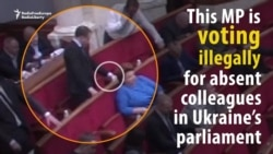 Ukrainian MPs Caught Voting Illegally For Colleagues In Parliament