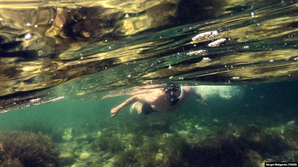 Тарханкут – одне з улюблених місць дайверів