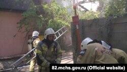 Пожар на ул. Желябова в Симферополе, 23 мая 2021 года