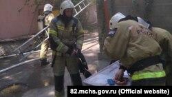 Пожар в Симферополе, 23 мая 2021 года