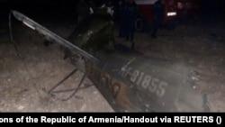 سقوط هلیکوپتر روسی در خاک ارمنستان