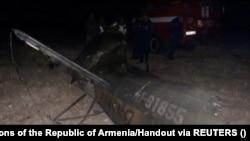 A lelőtt orosz MI-24-es roncsai.