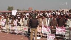 پېښور: د عمران خان وینا مهال د بلدیاتي استازیو احتجاج