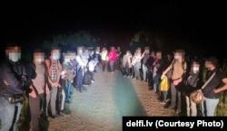 Беженцы, прибывшие в Литву из Беларуси