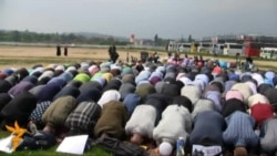 Muslims In Prague Protest Against Police Raid