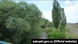 Участок реки Салгир в Симферопольском районе
