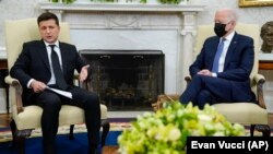 Президент Джо Байден зустрівся з президентом України Володимиром Зеленським у Білому домі, 1 вересня, 2021 року, Вашингтон