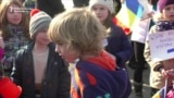 Children Join Anticorruption Protests In Bucharest