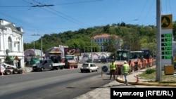 Ремонт дорожного покрытия, Севастополь, 20 мая 2021 года