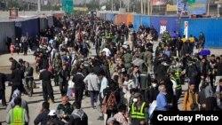 عکسی که از ازدحام جمعیت در مرز مهران منتشر شده است
