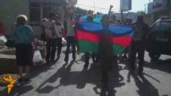 "19 iyun aksiyası - metronun ""İnşaatçılar"" stansiyası"