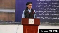 د افغانستان جمهور رئیس لومړی مرستیال امرالله صالح کندهار کې یوې غونډې ته د وینا پر مهال