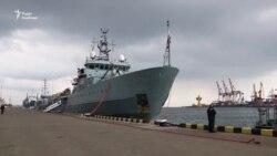 У порт Одеси зайшли кораблі НАТО (відео)