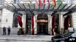 The Iran talks were held at the Grand Hotel in Vienna.