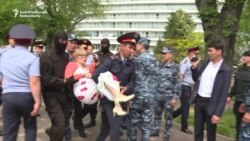 Dozens Detained In Kazakhstan After Calling For Release Of Political Prisoners