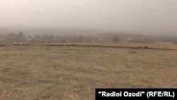 Нишонагузории тақсими замин дар ноҳияи Рӯдакӣ, 11 ноябри соли 2020.