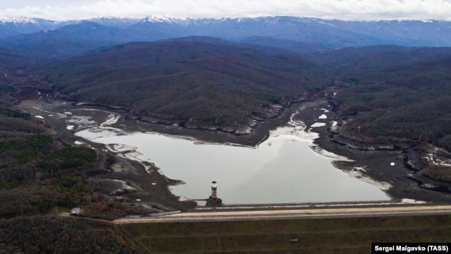 Загорское водохранилище, Бахчисарайский район, январь 2021 года