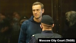 Алексей Навальный в суде, Москва, 2 февраля 2021 года