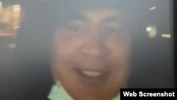 Скріншот із відео Саакашвілі, знятого, як він стверджує, 1 жовтня в Батумі