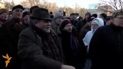 Proteste ale pensionarilor în fața sediului Guvernului la Chișinău