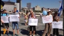 """Казанда """"Новороссиядәге сугышка каршы"""" пикет"""