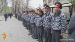 Ազատության հրապարակը՝ շրջափակված ոստիկաններով