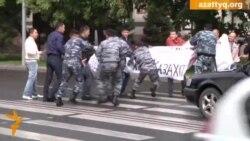 Протест строителей у акимата Астаны